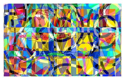 Snelson, P., II. (2015). Dancing Inside the 2-Dimensional Picture Plane. Computer graphic.
